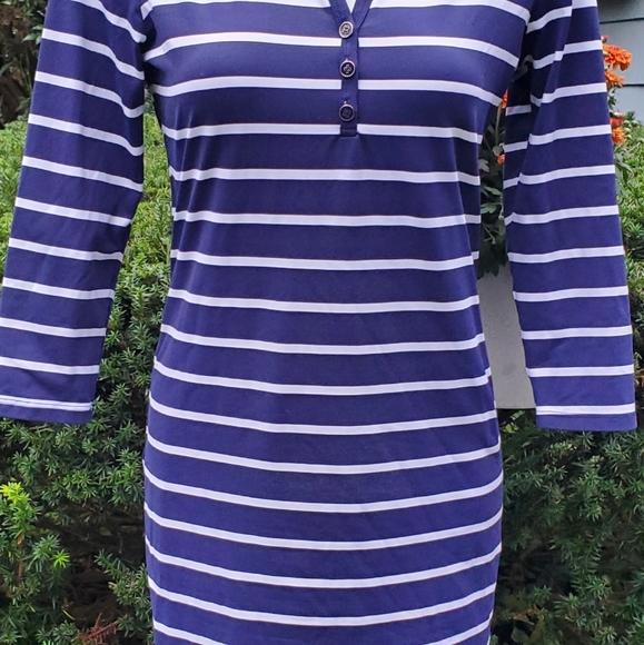 j. McLaughlin striped stretchy dress